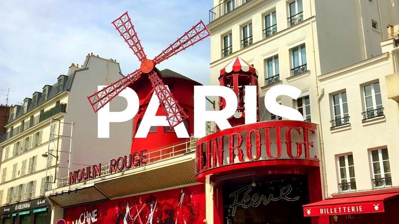 PARIS WALK Moulin Rouge on Boulevard de Clichy France