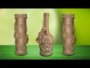 Plastic bottle craft ideas with jute rope-best out of waste | empty plastic bottle recycling idea