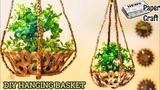 Newspaper Magazine Hanging Flower Basket Garden Best Out of Waste Newspaper Crafts Ideas