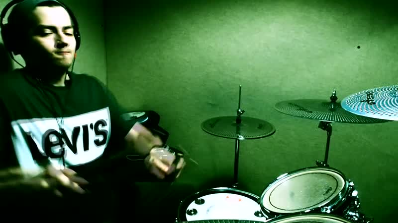 Krewella - Be there - Drum cover remix in Levis T-shirt Cobus Potgieter