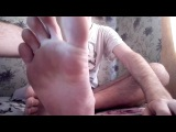 Lick all sweat on my stinky feet.