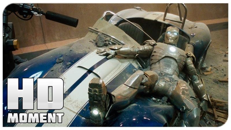 Первый полет Старка в костюме - Железный человек (2008)
