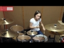 Девочка круто играет на барабанах drum cover System Of A Down Toxicity by Чеш