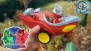 Манкиту открывает игрушки Герои в масках PJ Masks и их машинки toys PJ Masks and cars heroes