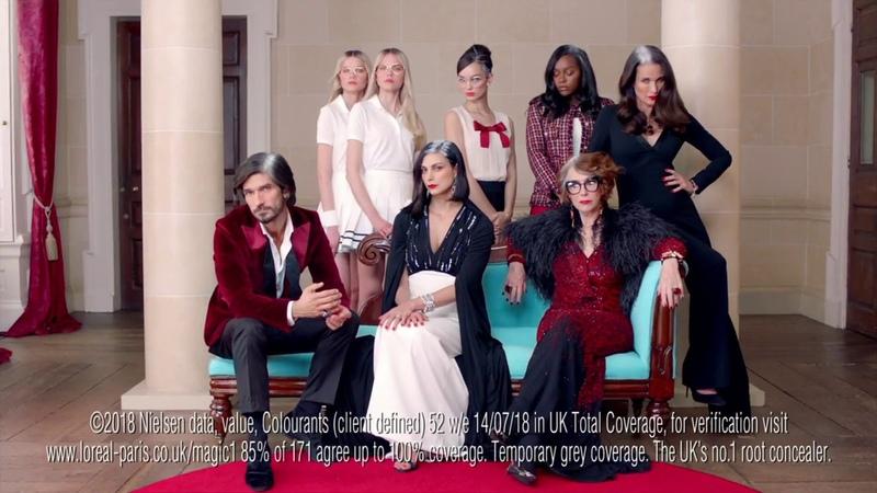 Рекламный ролик от L'Oréal Paris Magic Retouch Meet the Roots Family with Helen Mirren