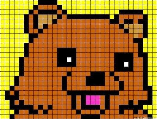 схемы пиксель-артов на игру