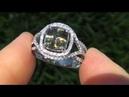 GIA CERT Estate 4 29 ct VVS Demantoid Garnet Diamond Vintage Ring 14K White Gold