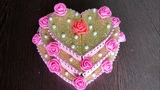 DIY Valentine's day gift Heart shaped cake Pizza box reuse Best out of waste Chocolate box