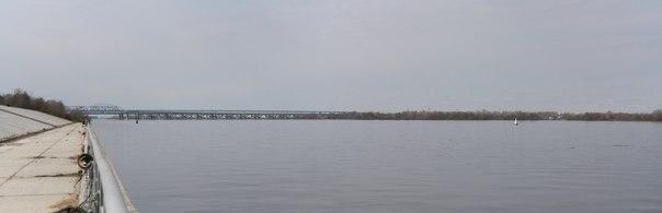 Панорама на Борский мост  30 апреля 2018