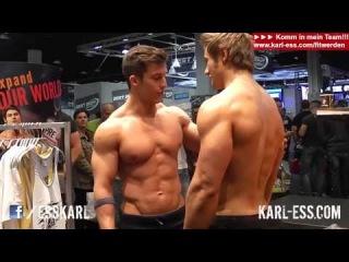 Tim Gabel vs. Jeff Seid - posing and flexing - FIBO 2014 - KARL-ESS.COM (vk.com/jeff_seid_forever)