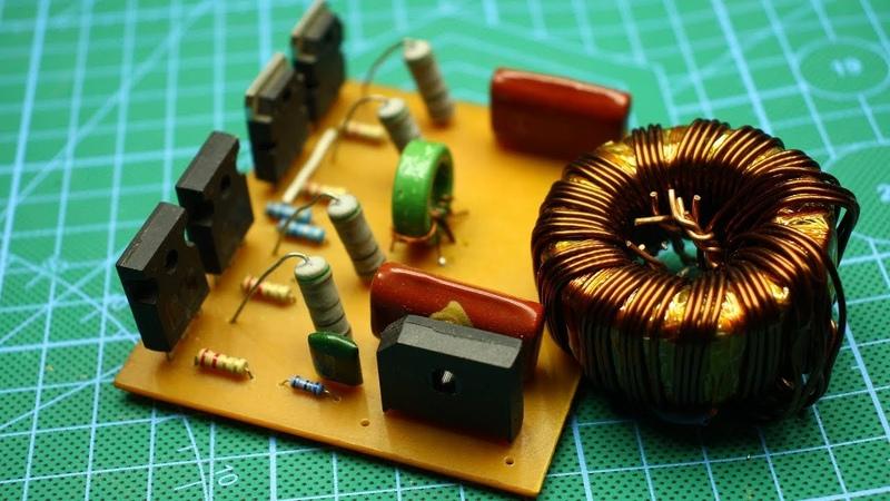 500 Ватт из электронного трансформатора! увеличиваем мощность.