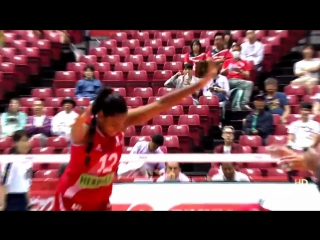 TOP 10 Best Actions by Angela Leyva - Volleyball Wing Spiker