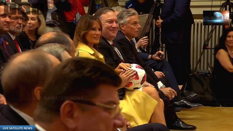 President Trump Throws Soccer Ball to Melania at Putin Summit July 16, 2018