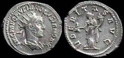 Древнеримские женщины-богини, монеты, Юбертас