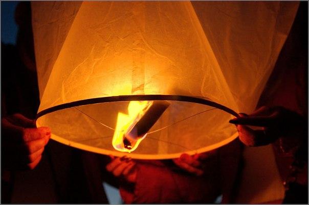 Как сделать летающий китайский фонарик