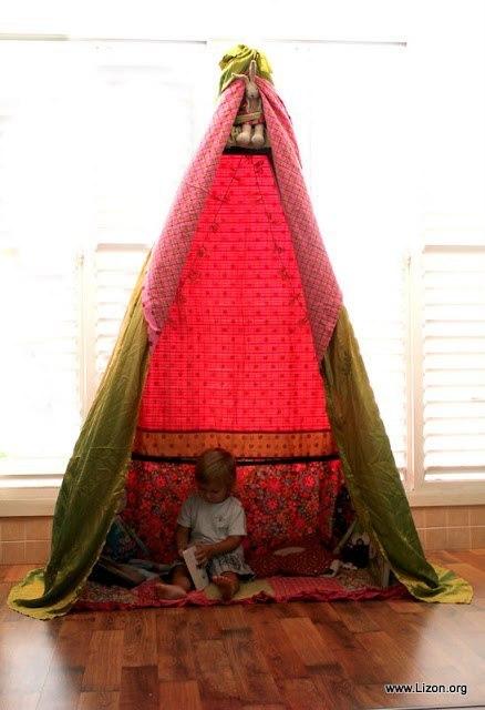 Сделать шалаш для ребенка