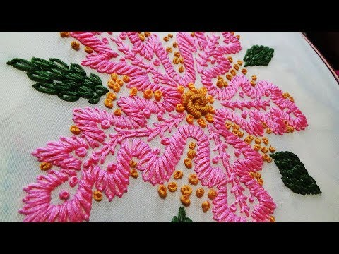 Hand Embroidery Daisy Stitch