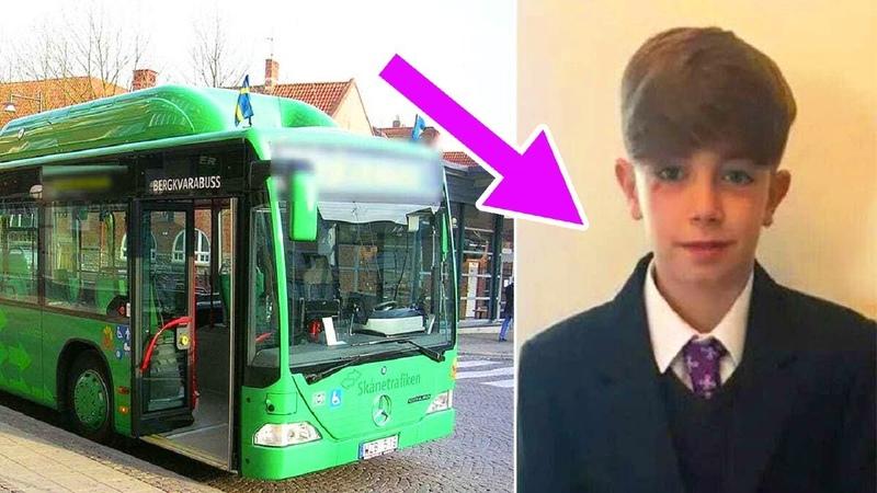 Том увидел в конце автобуса плачущего мальчика и закричал Остановите автобус