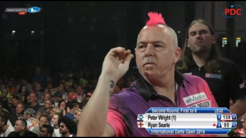 2018 International Darts Open Round 2 Wright vs Searle