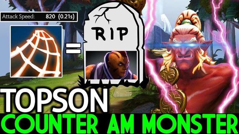 TOPSON [Troll Warlord] Pro Counter AM Monster Meta 7.20 Dota 2