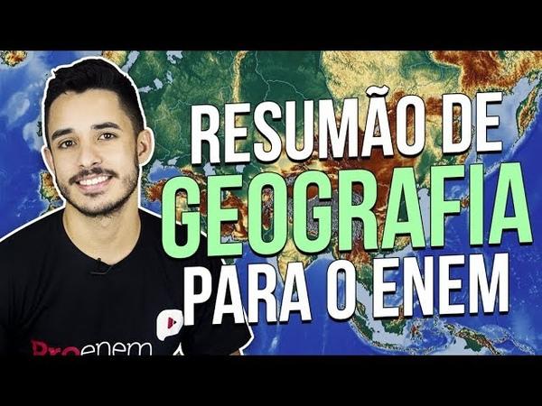 5 TÓPICOS MAIS IMPORTANTES DE GEOGRAFIA PARA O ENEM | Prof. Leandro Almeida