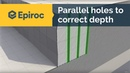 The importance of parallel holes to correct depth
