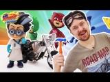 ГАРАЖ АЛЕКСА: Герои в Масках и Алекс улучшают мотоцикл для гонок!