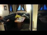 Huge Ocean Waves Toss Men Around Boat Living Room