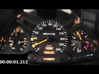 Mercedes S 600 V12 Biturbo 0-270km_h acceleration, and burnout __ KO 860