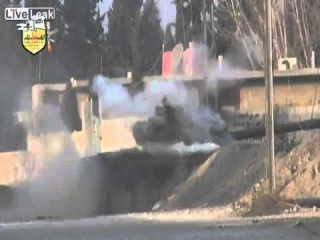 LiveLeak Syria: T-72 hit twice by RPGs in 2 seconds