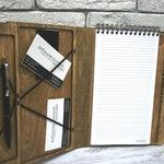 Деревянный блокнот-органайзер с логотипом