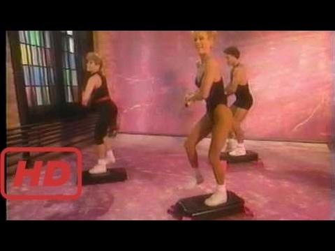 [julianne hough] Brenda Dygraf demos the super step aerobic step