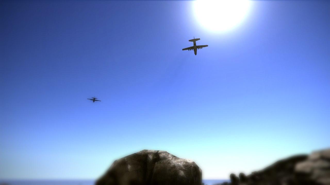 Самолеты в игре Rust скинули ящики