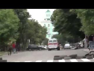 Луганск 02.06.2014 обстрел истребителем ОГА