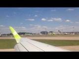 Посадка в Москве. Домодедово. Embraer 170 S7 Airlines BZK - DME. 16.06.2018