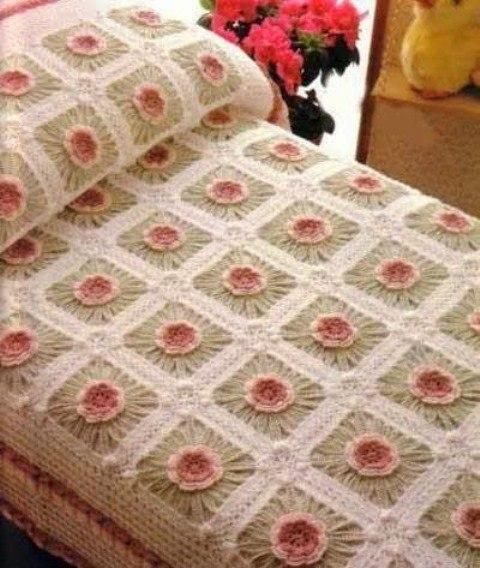 Покрывала на кровать. Схемы