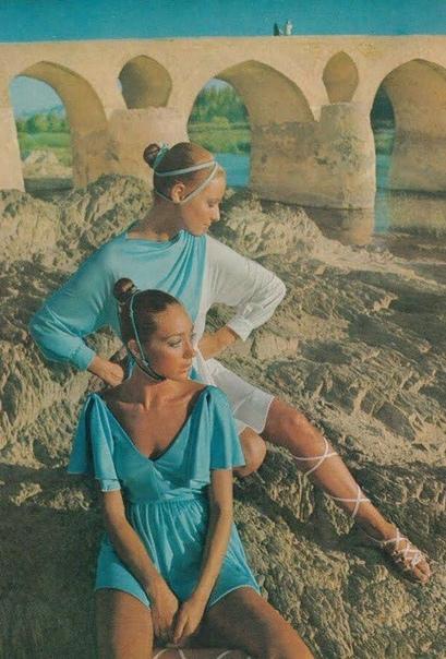 Фото со страницы Vogue, 1969 год.