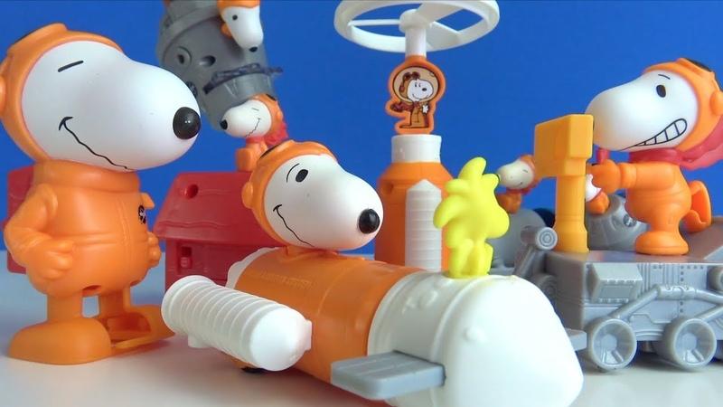 McDonalds Happy Meal çocuk menüsü içinden hangi Yeni Snoopy Oyuncakları Nasa Uzay Araçlar Çıkıyor
