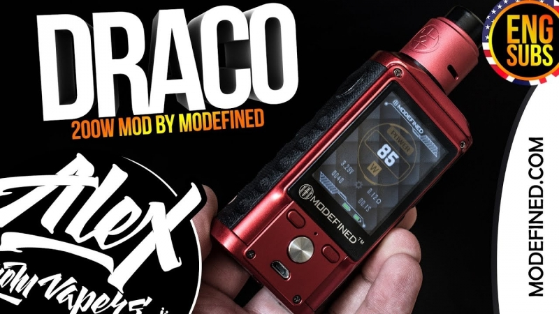 ГОДНО! l Draco 200W l by Modefined l ENG SUBS l Alex VapersMD review 🚭🔞