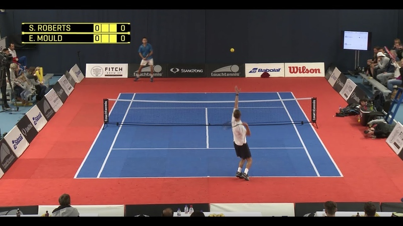 £8000 touchtennis Masters Cup Roberts vs Mould SF Full Match MC17