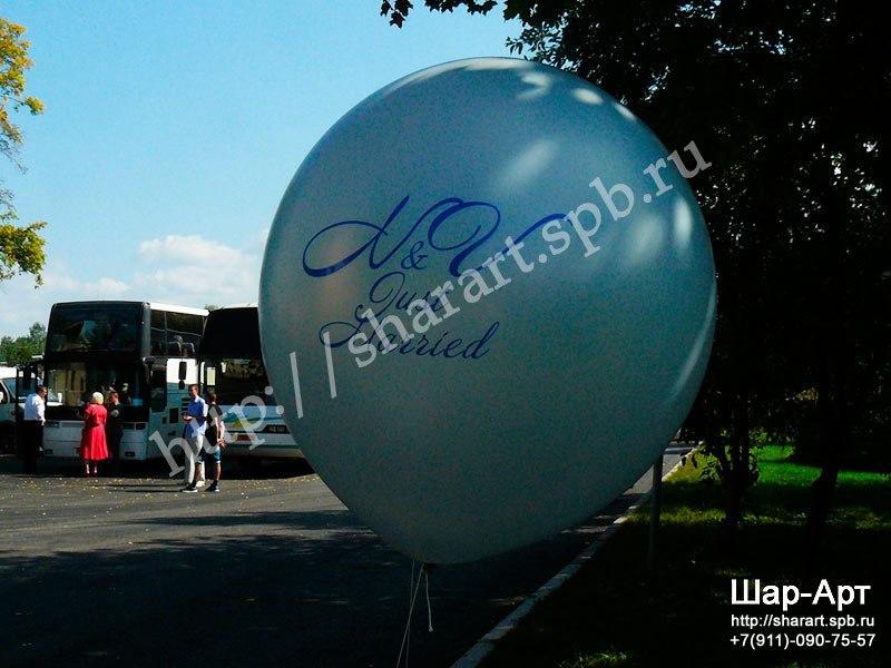 большие шары с логотипом на заказ