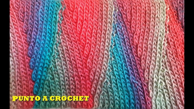 Punto tejido a crochet - Crochet stitch - tutorial - tejido - ganchillo