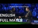 Ronnie OSullivan vs Shaun Murphy - full match Champion of Champions Snooker 2018 SF