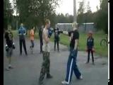 КИКБОКСИНГ- 2013-тренировка на стадионе-тренер ТАБАЧНЫЙ В А