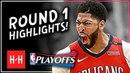 Anthony Davis Full ROUND 1 Highlights vs Portland Trail Blazers All GAMES - 2018 Playoffs