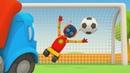 Çizgi film Leo robotlarla futbol oynuyor Çocuklar için video