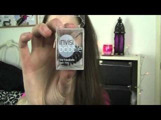 Вариант прически с использованием резинки для волос Invisibobble