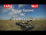 Тяжелый танк ИС. Все о броне ИС за 60 секунд. Зоны пробития ИС. Схема бронирования ИС.