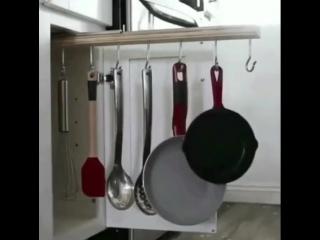 Классная идея по хранению вещей на кухне?