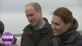 The Duke and Duchess of Cambridge enjoy walk on Bangor beach